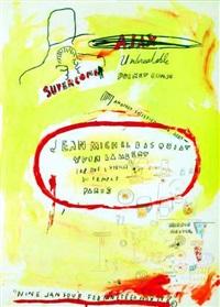supercombas - jean michel basquiat by jean-michel basquiat