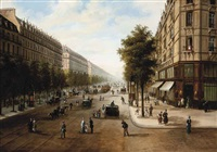 the boulevard malesherbes, paris by edmond georges grandjean