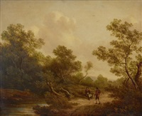 landscape with peasants by richard h. hilder