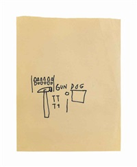 gun dog by jean-michel basquiat