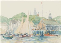 sandy bay yacht club; bermuda; rockport (3 works) by reynolds beal
