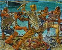 hoisting ashore by joza kljakovic