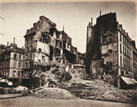 la commune de paris, ruines by alphonse liebert