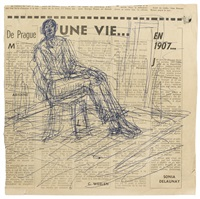 homme assis sur une chaise by alberto giacometti