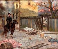 ranek po pogromie by woiciech (aldabert) ritter von kossak