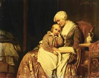 on grandmother's lap by johan philip koelman