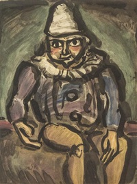 vieux clown (from cirque) by georges rouault