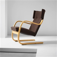 early cantilevered highbacked armchair, model no. 36/86, from the harry and maire gullichsen residence, kaivopuisto, helsinki by alvar aalto