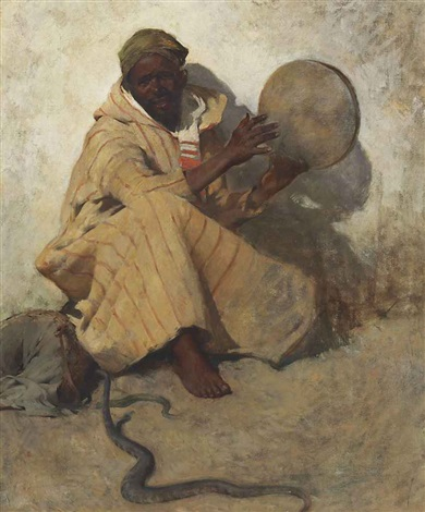 the snake charmer by willard leroy metcalf