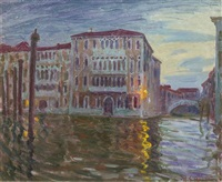 sun down, grand canal, venice by william samuel horton