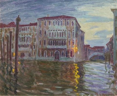 sun down grand canal venice by william samuel horton