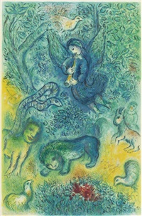 magic flute (by charles sorlier) by marc chagall