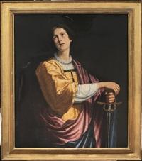 figura di santo con spada (san crescentino) by jacopo (da empoli) chimenti