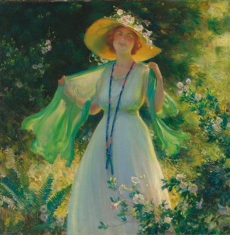 path of flowers by charles courtney curran