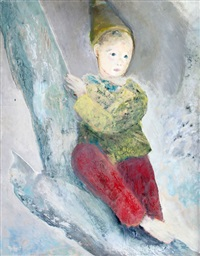 pierrot con pantalon rojo by alberto trabucco