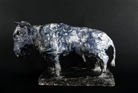 taurus (blue) by markus lüpertz