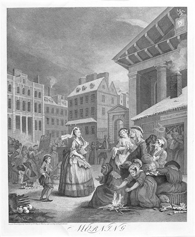 the four times of the day set of 4 by william hogarth