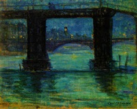the thames at night by cecil gordon lawson