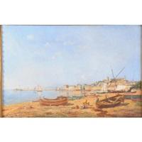 la réparation des bateaux dans un port méditerranéen by jacques roger simon