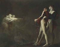 the three witches appearing to macbeth and banquo by henry fuseli