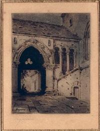 architectural study by louis jaques mandé daguerre