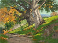california autumn (oak & sycamore) by charles partridge adams