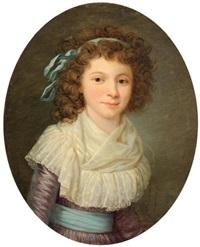portrait de jeune fille en corsage de linon by marie-victoire lemoine