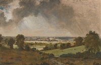 dedham vale, with a view to langham church from the fields just east of vale farm, east bergholt by john constable