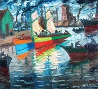 barcos iluminados by benito quinquela martín