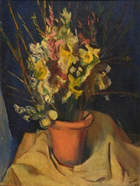 maceta con flores by ernesto scotti