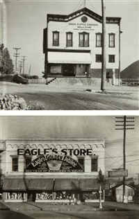 company store, hecla, west virginia; and storefront, selma, alabama (2 works) by walker evans