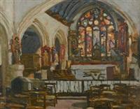 la chapelle de tréguennec et étude (recto-verso) by lucien simon