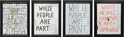 white drawings 4 works by william popel