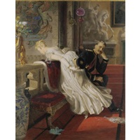 british, amor vincit omnia by edward henry corbould