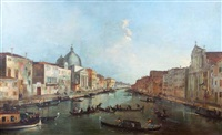 vue du grand canal by francesco guardi