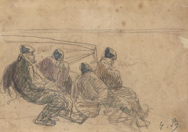 pêcheurs au repos by eugène boudin