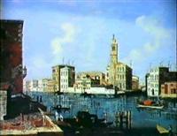 veduta veneziana del canal grande a s. geremia by gaetano veturali