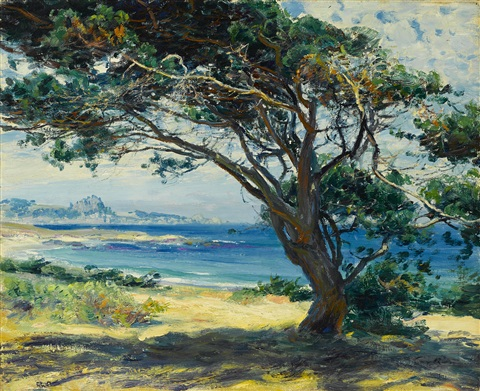 wind swept pines by guy rose