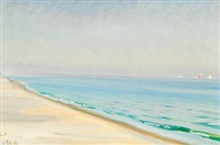 sommerdag på skagen sønderstrand by michael peter ancher