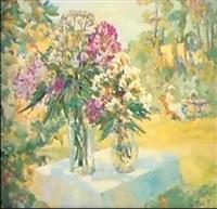 bouquet au jardin by mstislav pavlov