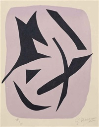 one plate, from: si je mourais là bas by georges braque