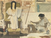joseph, overseer of pharaoh's granaries (study) by sir lawrence alma-tadema