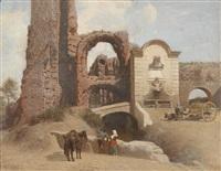 römische straßenszene mit ruinen by thomas fearnley