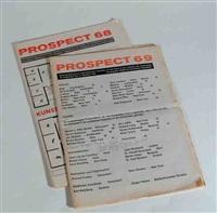 2 bll. matrizendrucke in: prospect 68 / prospect 69 (2 works) by daniel buren