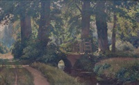 paisaje con puente by gerard (ger) jacobs
