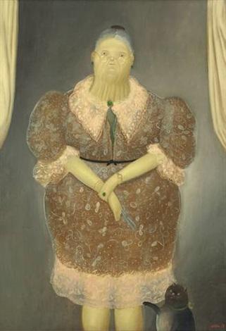 la abuelita by fernando botero