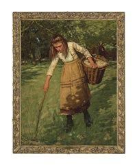 the wool gatherer by henry herbert la thangue