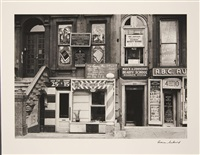 'harlem store facades with photostudio' by aaron siskind