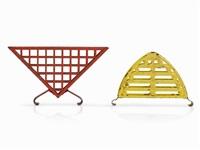 pair napkin holders (pair) by marianne brandt