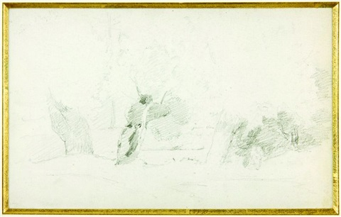 paysage recto verso by camille pissarro